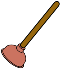 Toilet Plunger by bnielsen via OpenClipArt